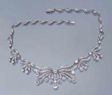 Ожерелье с бриллиантами. 750 белое золото (18 карат)