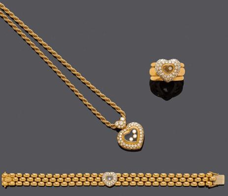 51d4a0bc19a Комплект ювелирных изделий CHOPARD HAPPY DIAMONDS купить с доставкой